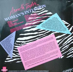 Back Cover Album Annette Taylor - Woman's Intuition