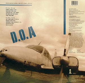 Back Cover Album Atension - D.O.A. Def On Arrival