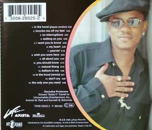 Back Cover Album Donell Jones - My Heart