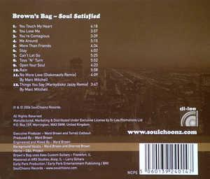 Back Cover Album Brown's Bag - Soul Satisfied