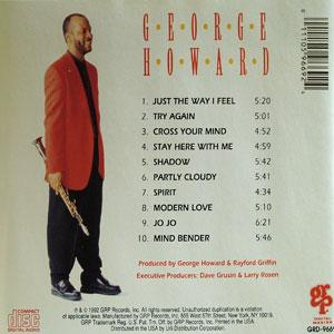 Back Cover Album George Howard - Do I Ever Cross Your Mind?