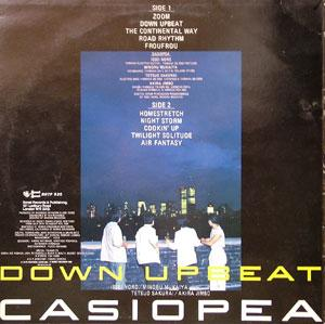 Back Cover Album Casiopea - Down Upbeat