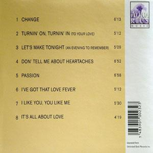 Back Cover Album Barry White - Change