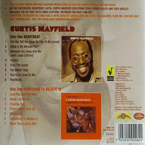 Back Cover Album Curtis Mayfield - Heartbeat