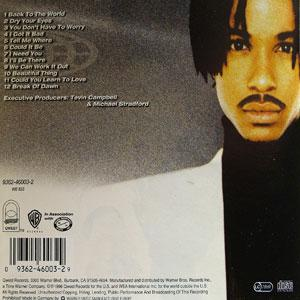 Back Cover Album Tevin Campbell - Back To The World