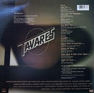 Back Cover Album Tavares - Love Line