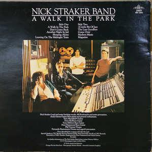 Back Cover Album Nick Straker - A Walk In The Park