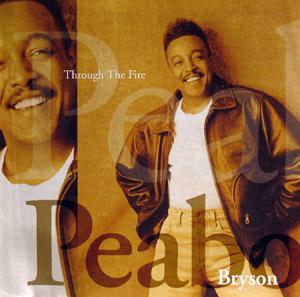 Front Cover Album Peabo Bryson - Through The Fire