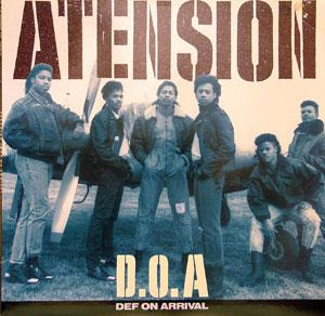Front Cover Album Atension - D.O.A. Def On Arrival