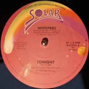 Front Cover Single The Whispers - Tonight