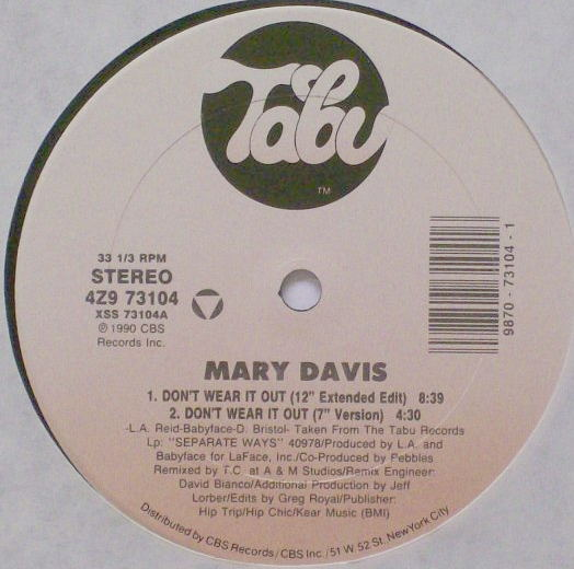 Davis, Mary - Don't Wear It Out